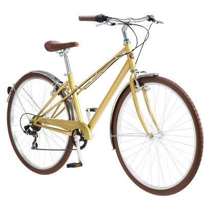 Schwinn Women S Mifflin Hybrid Bike Gold Shows More Content