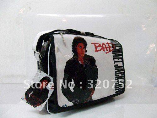 Michael Jackson BAD PVC Shoulder Messenger BAG/Schoolbag 1PC(China ( · Free shipping!Michael Jackson BAD PVC Shoulder Messenger BAG/Schoolbag 1PC  ////// totally want this.