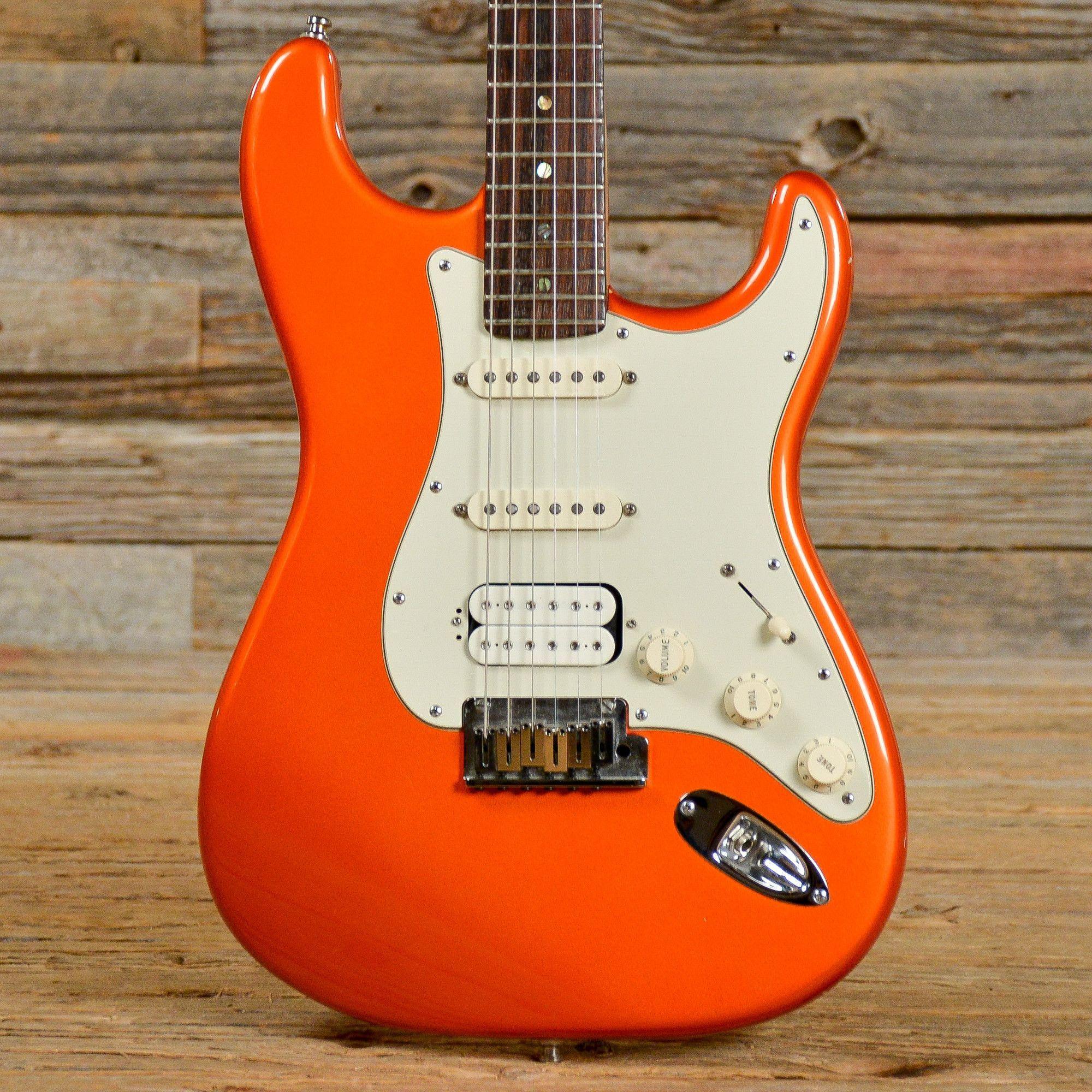 Fender American Deluxe Stratocaster HSS Orange 2001 (s572 ...