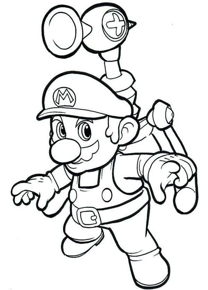 Best Printable Super Mario Coloring Pages di 2020 (Dengan