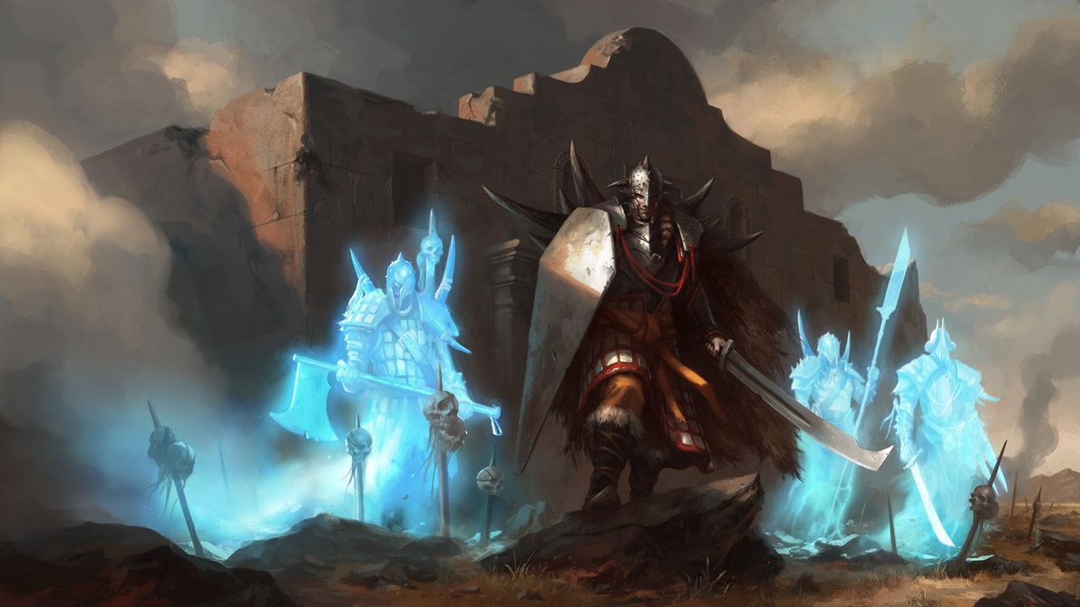 Spirits of War by daarken on deviantART | Fantasy paintings, Art, Mtg art
