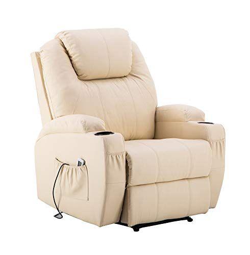 Mcombo Fauteuil De Massage Pour Fauteuil De Relaxation Ou Fauteuil De Massage Blanc Creme Fauteuil De Massage Fauteuil Relax Fauteuil