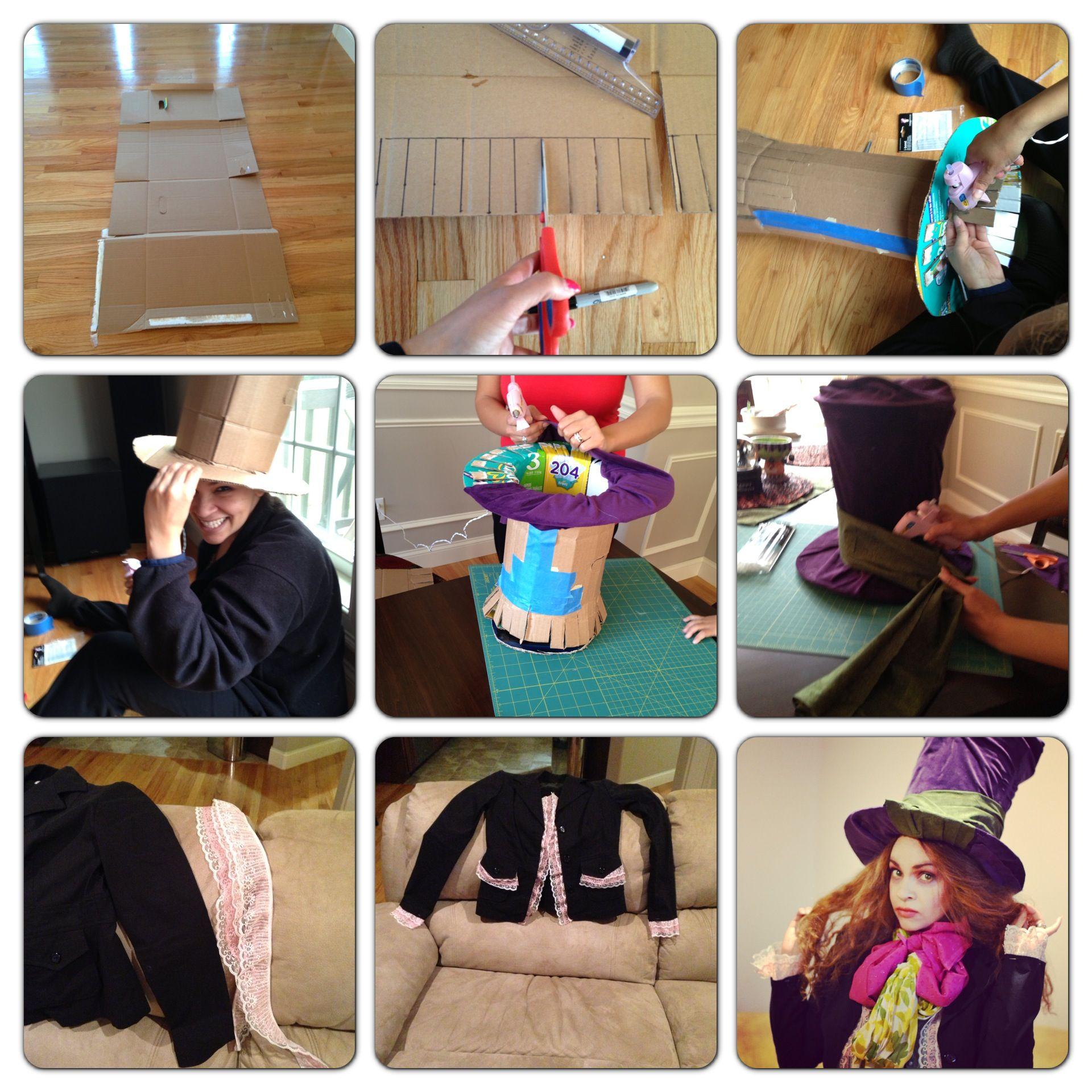 my diy mad hatter costume happy halloween my creations pinterest fasnet kost me kost m. Black Bedroom Furniture Sets. Home Design Ideas