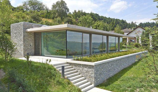 Modern Architecture House Glass stone concrete and glass,modern,architecture,germany,design,glass