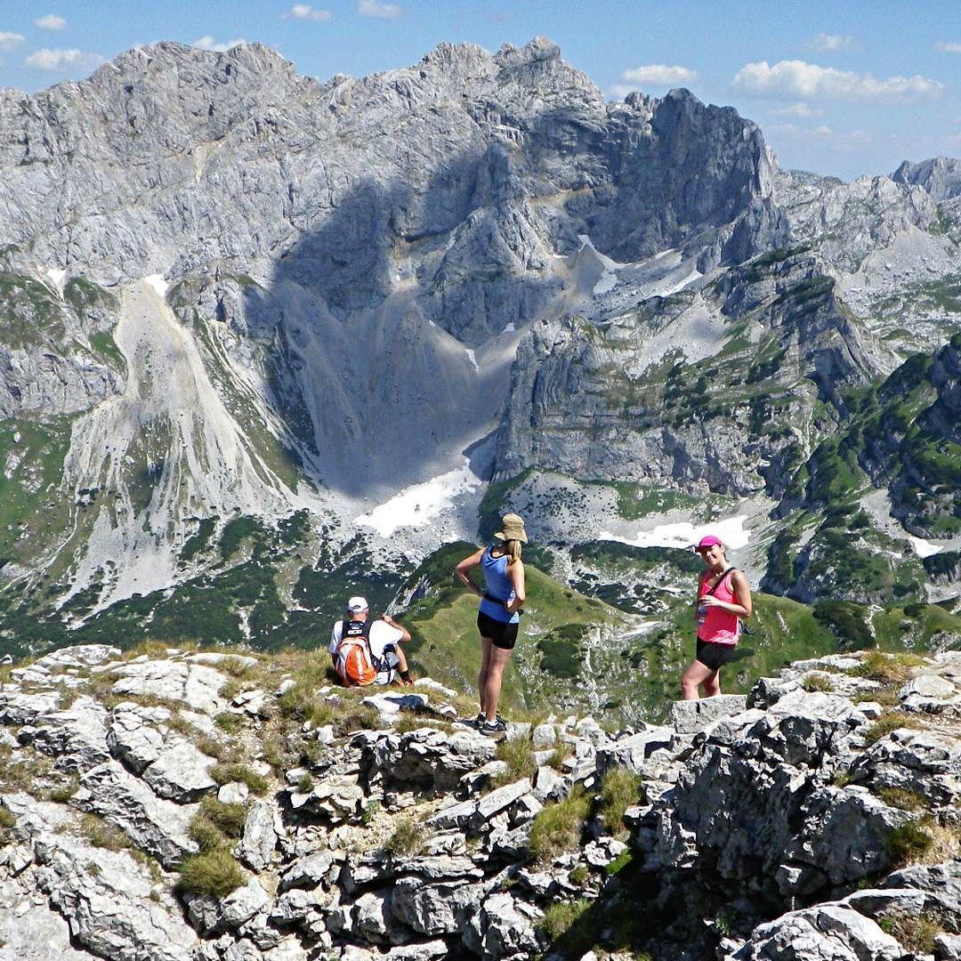 Climbing #Prutas with view over #BobotovKuk in NP Durmitor #montenegro (over 2300 m)  #hiking #trekking #travel #traveladventures #traveladdict #activetravel #activeliving #travelphoto #travelpic #mountains #onthetop #zabljak #durmitor #nationalpark #durmitornationalpark #visitmontenegro #europe #naturegram #nature #climbing #adventure #traveltip #bruksovci #brooksrunningteam by posvudushaontheroad