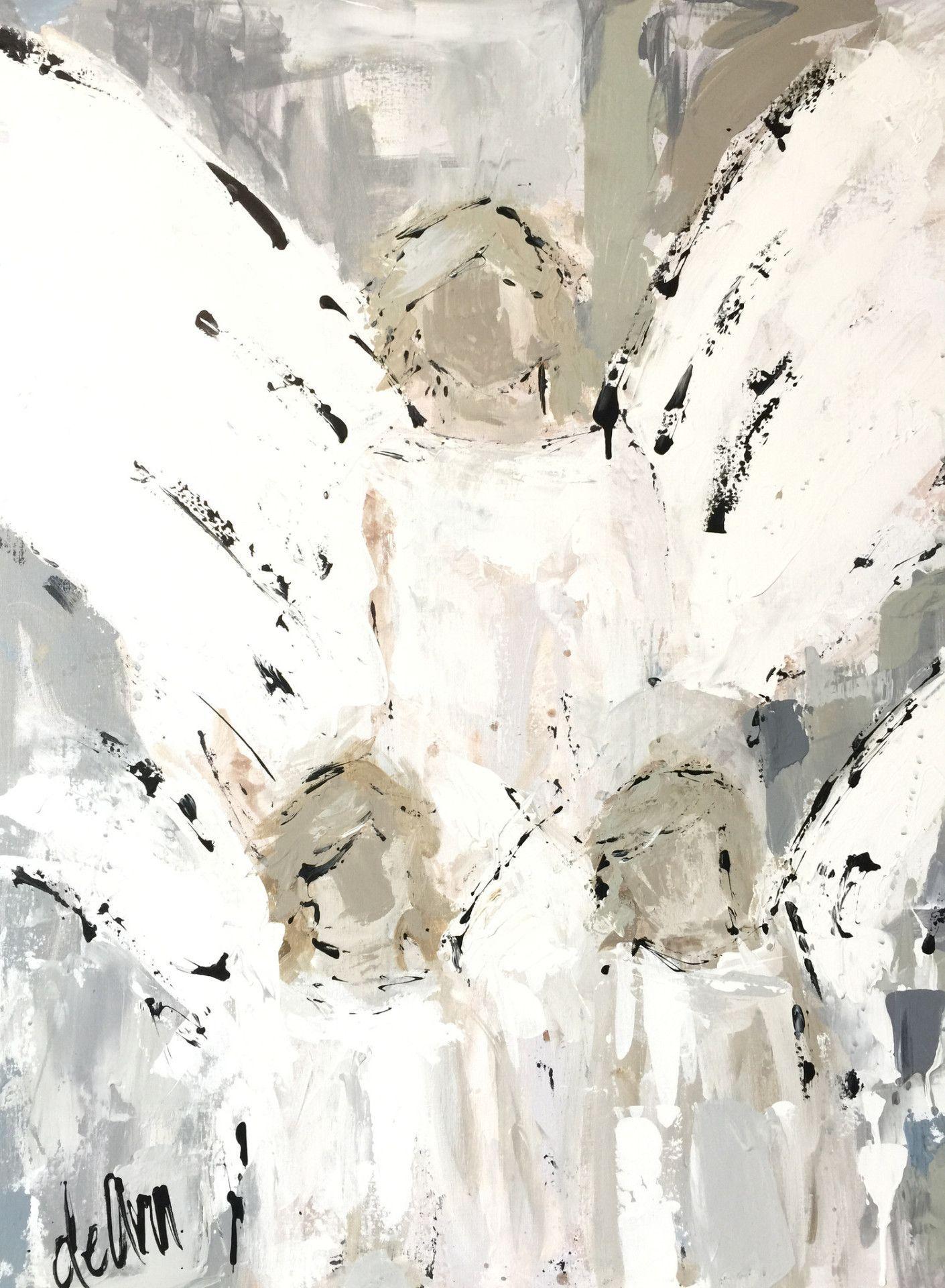 That Which Fills Her Heart | Engelchen, abstrakte Kunst und Jacken
