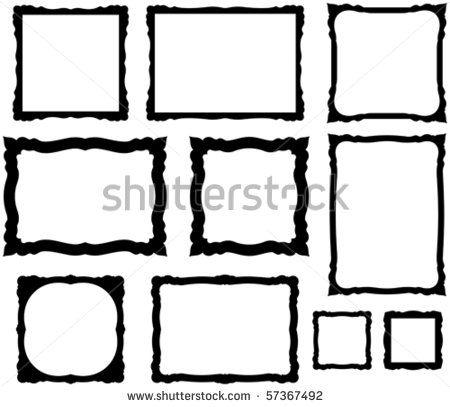large ornate frame template vector decorative scrapbook frame on white background stock vector