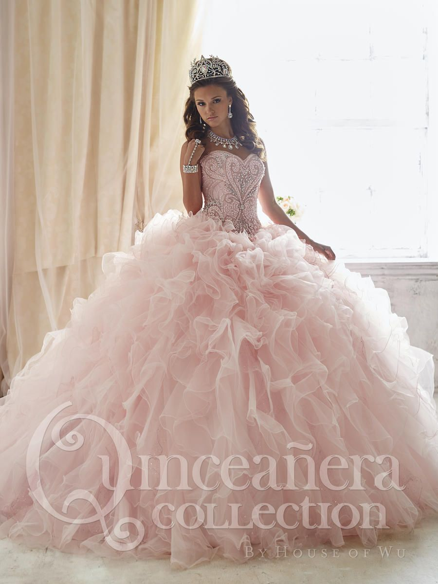 64b397aa0cc Check out the deal on House of Wu 26818 Ruffle Quinceanera Dress with Removable  Skirt at French Novelty