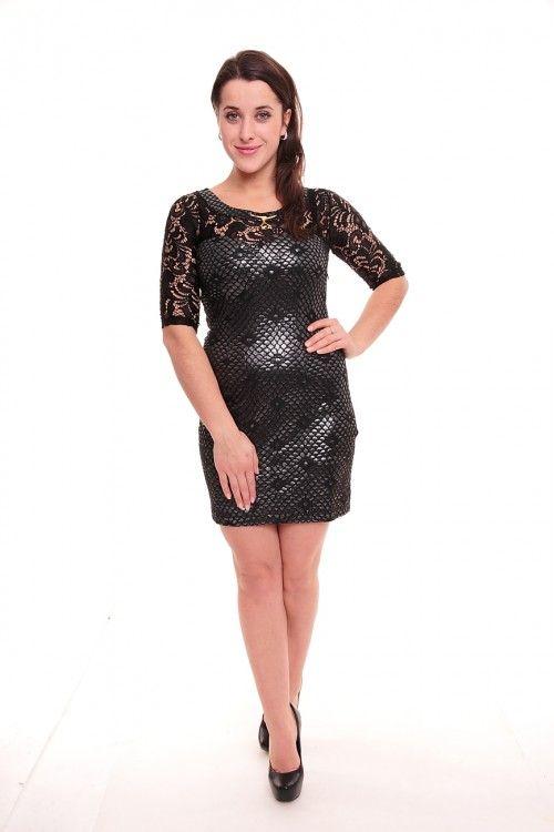 Платье А1046 Размеры: 42,44,46,48 Цвет: черный Цена: 600 руб.  http://optom24.ru/plate-a1046/