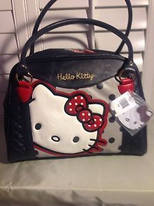 6dda87c05 Hello Kitty Purse / Color: Navy Blue, White, Red, hint of Gold /  Material:Man Ma