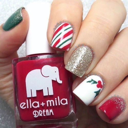 Wrapping Paper Stencils for Nails Sweet Cane Christmas Nail Stickers Nail Artwork eBay