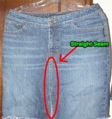 Make a denim skirt from recycled jeans denim skirt for Zerrissene jeans selber machen