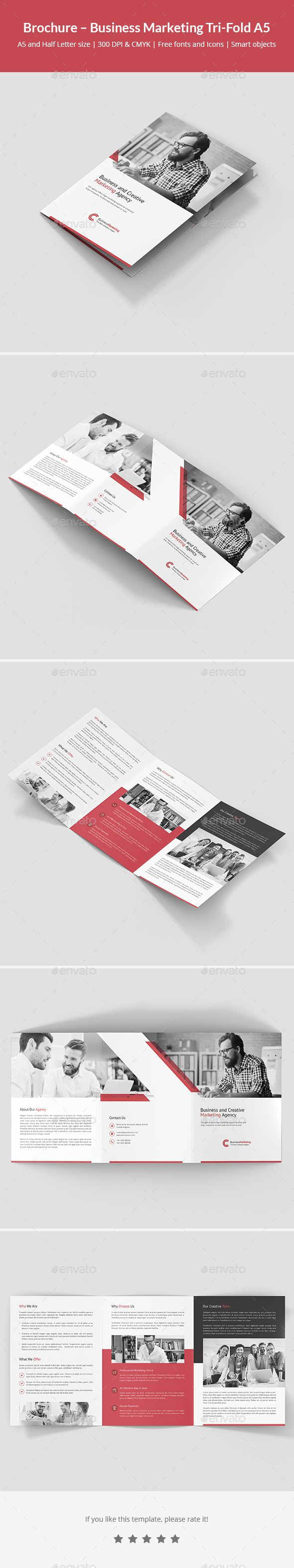 Brochure  Business Marketing TriFold A  Business Marketing