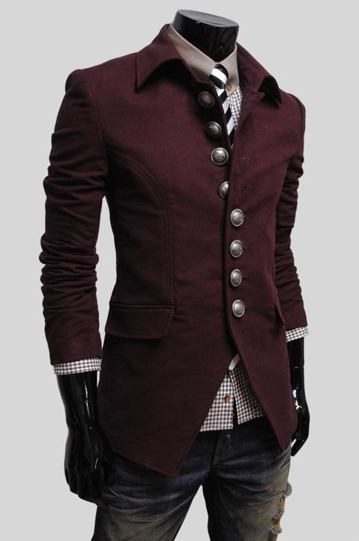 Burgundy #coat #men #style