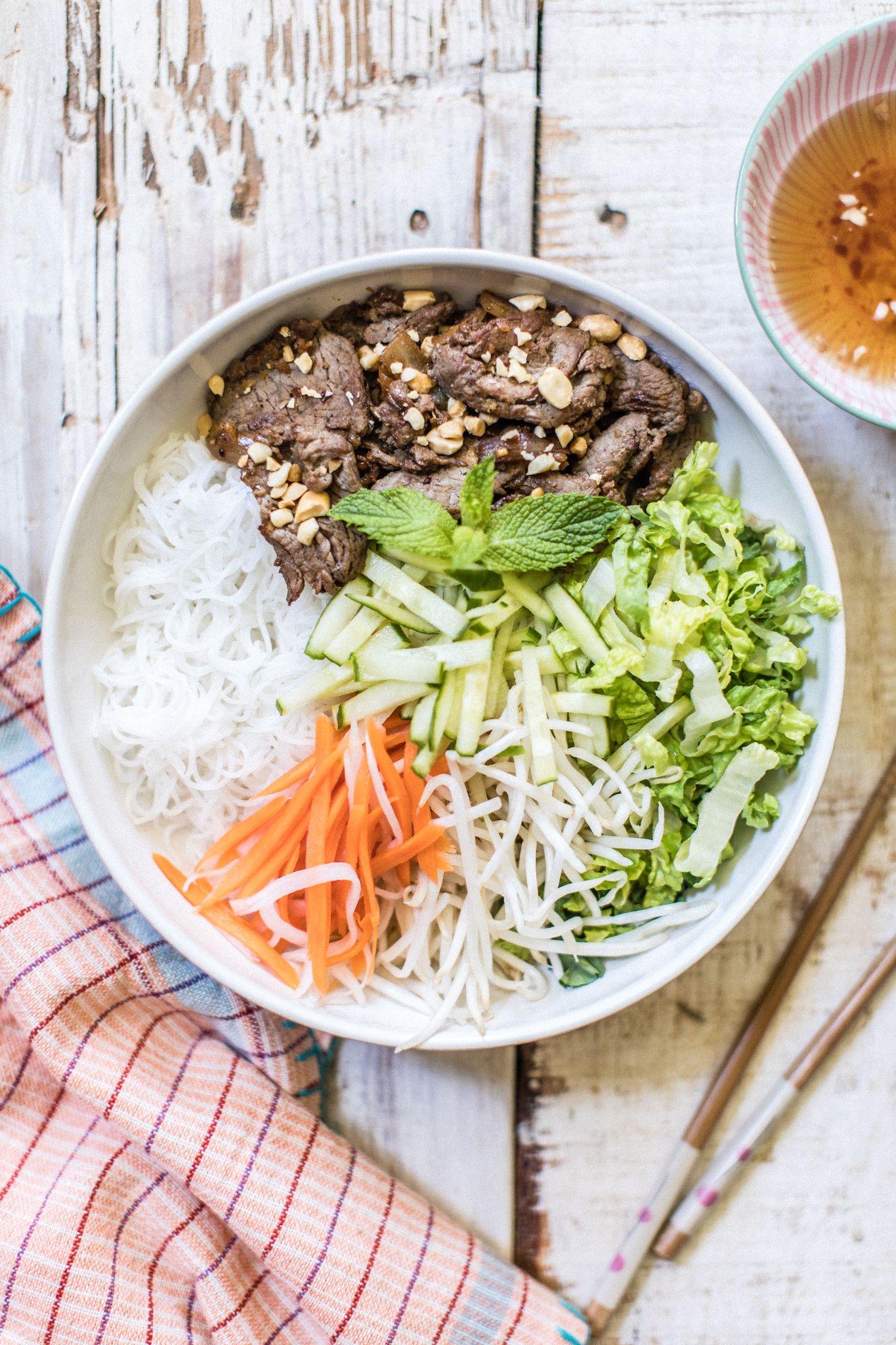 Vietnamese Noodle Salad Healthy Noodle Recipes Beef Salad