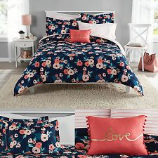 Walmart Mainstays Floral Comforter Set Size Twin Xl With Images