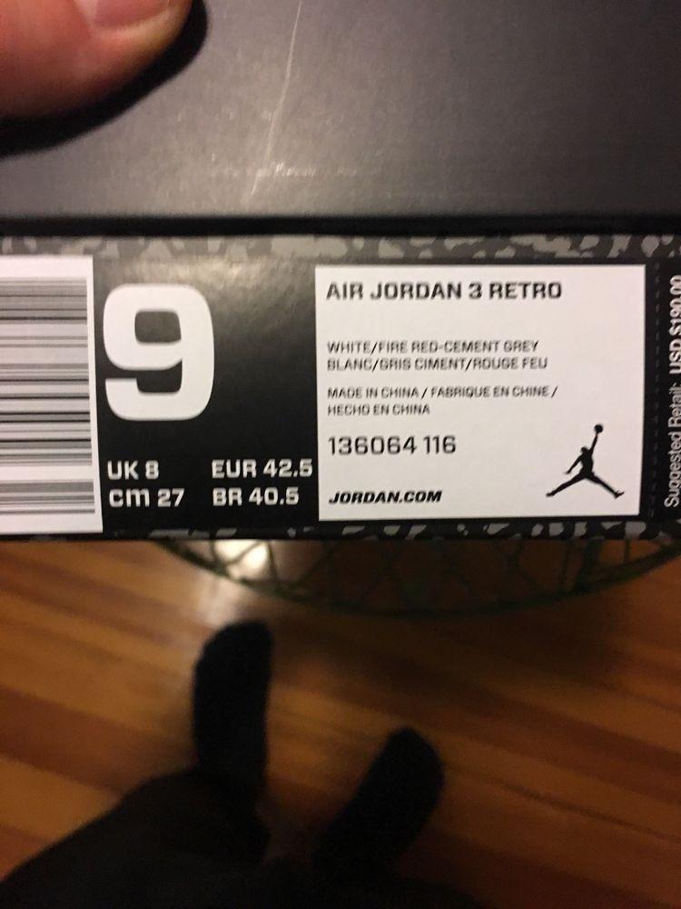 info for 9fd3b 561c8 Nike Air Jordan III Retro 3 Katrina White Fire Red Cement Grey 136064 116