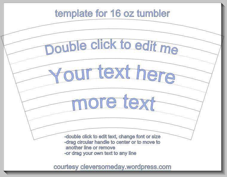 Tumbler template {silhouette} Pinterest Tumbler, Template and - tumbler template