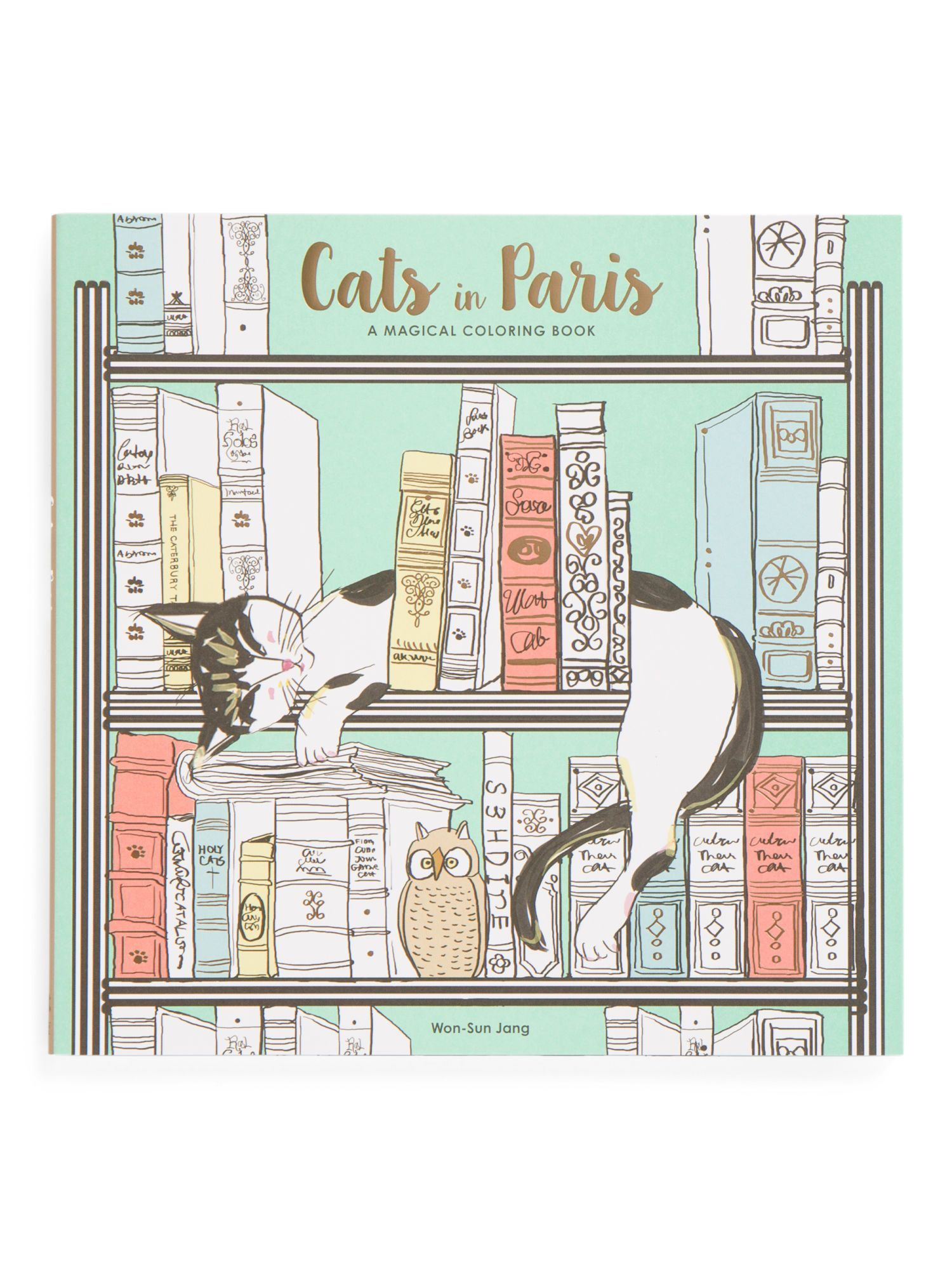 RANDOM HOUSE Cats In Paris Adult Coloring Book