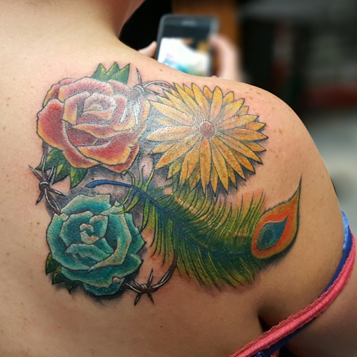 Pin by Michael Harrolle on Tattoos by Big Mike Peacock