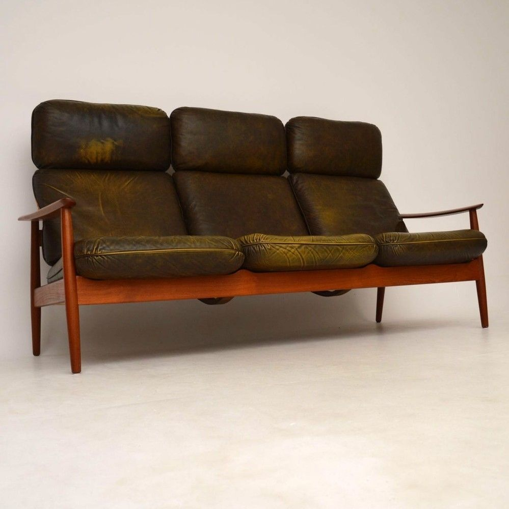 Danish Leather Sofa Second Hand