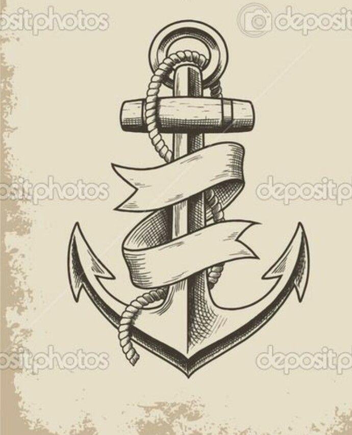 Classic Anchor Tattoo Anchor Tattoos Anker Tattoo Traditional