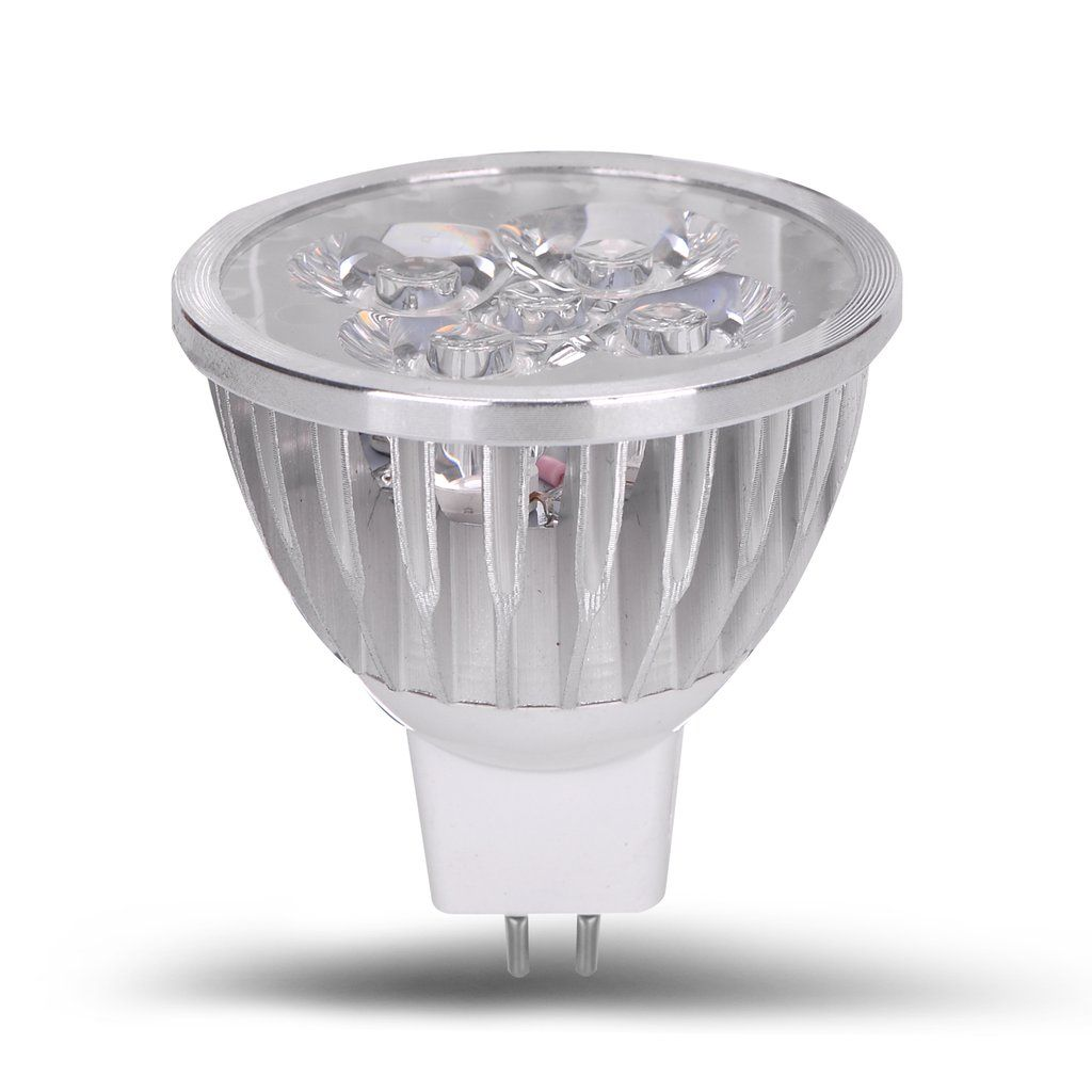 Ac Dc 12 Volt 4 Watt Led Light Spot Bulb Mr16 Gu5 3 Bi Pin Track Lamp Led Light Fixtures Led Landscape Lighting Bulb