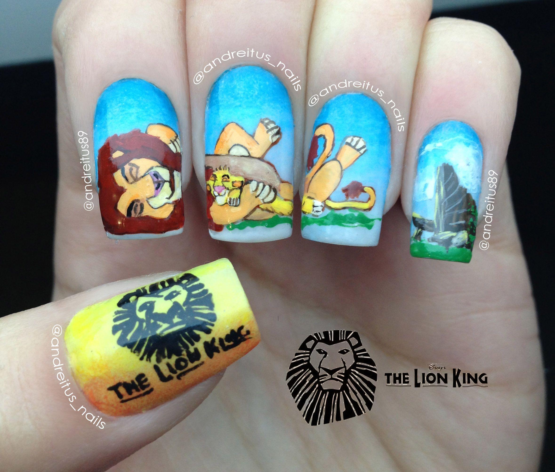 The Lion King Nails. Mufasa and Simba nailart. notd   Nails ...