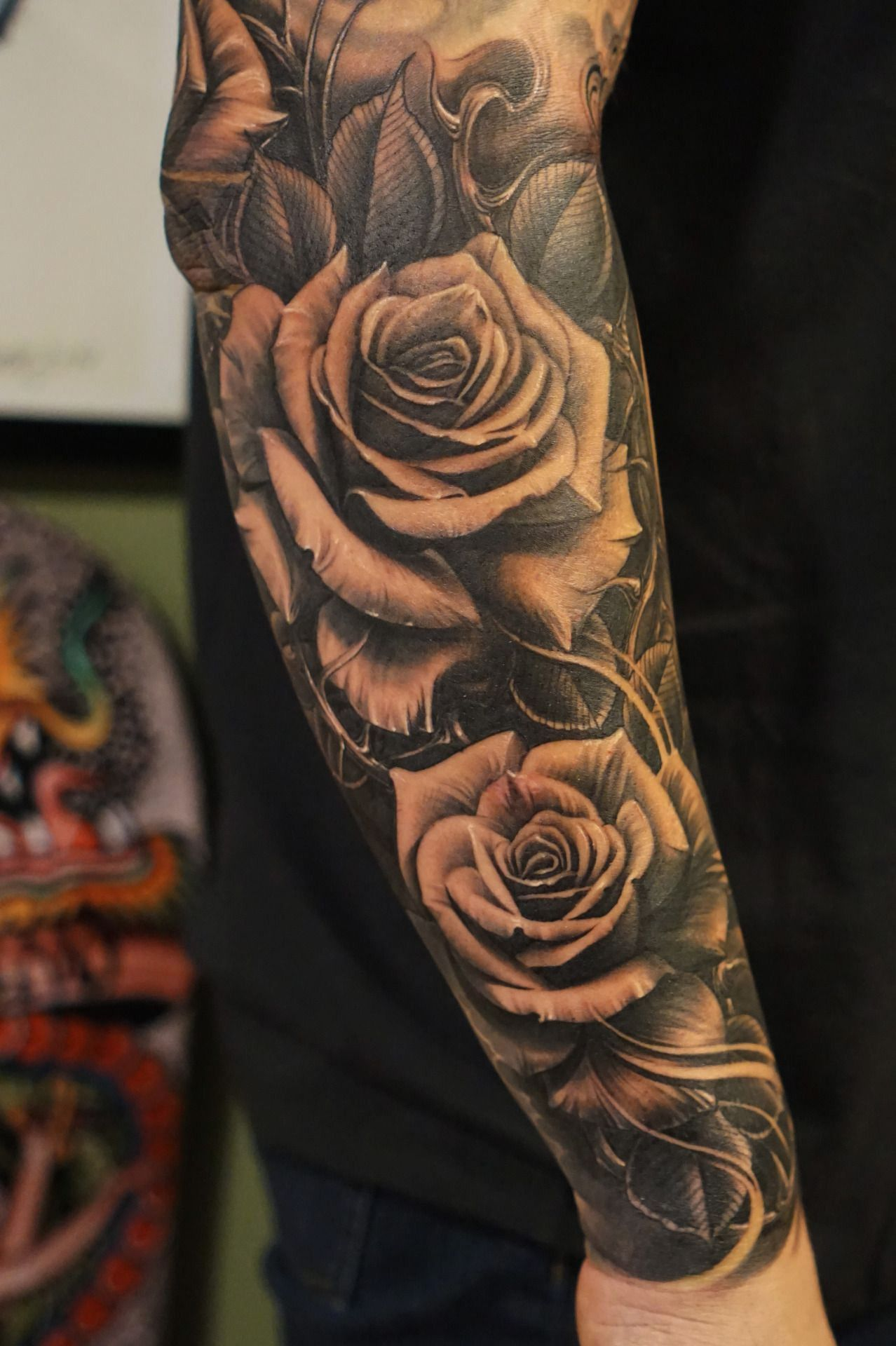22 Cross Half Sleeve Tattoo Designs Rose Tattoo Sleeve Rose Tattoos For Men Cool Forearm Tattoos