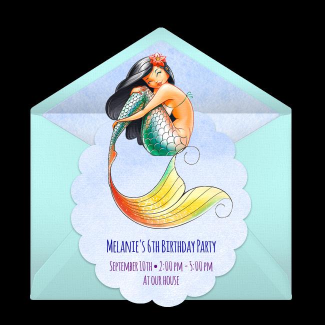 Free watercolor mermaid invitations free birthday mermaid free watercolor mermaid invitations filmwisefo