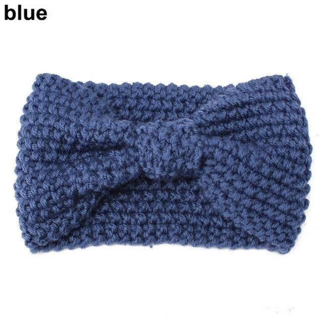 1 PC Women Lady Crochet Bow Knot Turban Knitted Head Wrap Hairband ...