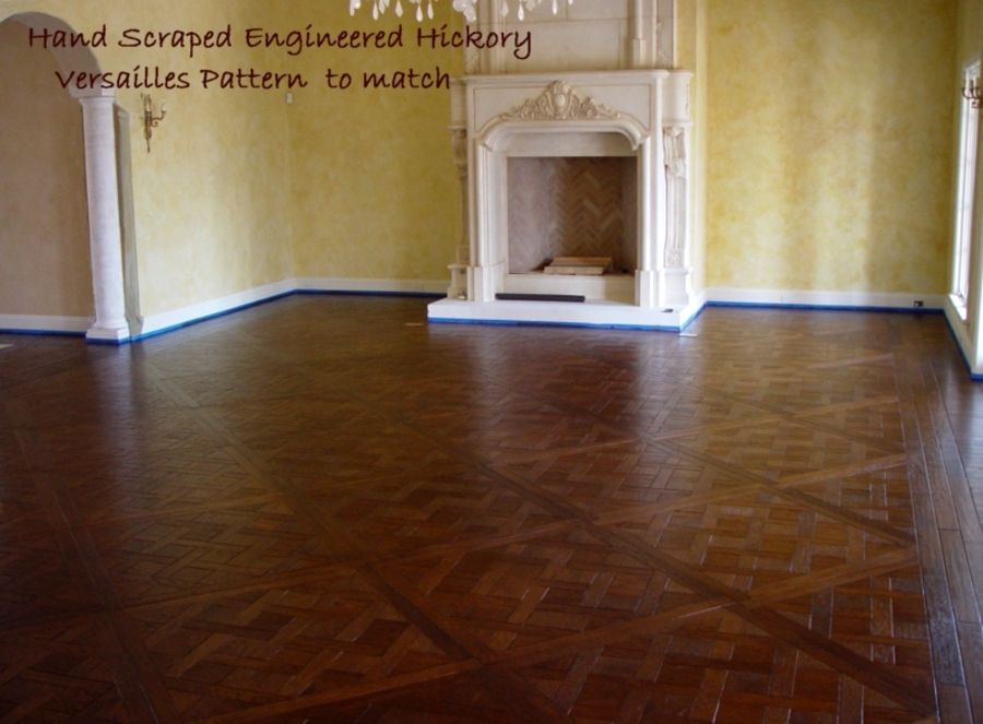 Our Prefinished Hand Distressed Versailles Pattern With Hickory