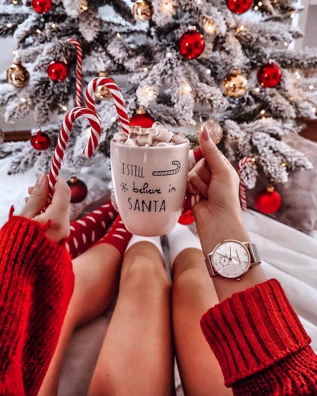 I still believe in Santa #xmas #christmas #santaclaus   Cosy christmas, Christmas  aesthetic, Instagram christmas