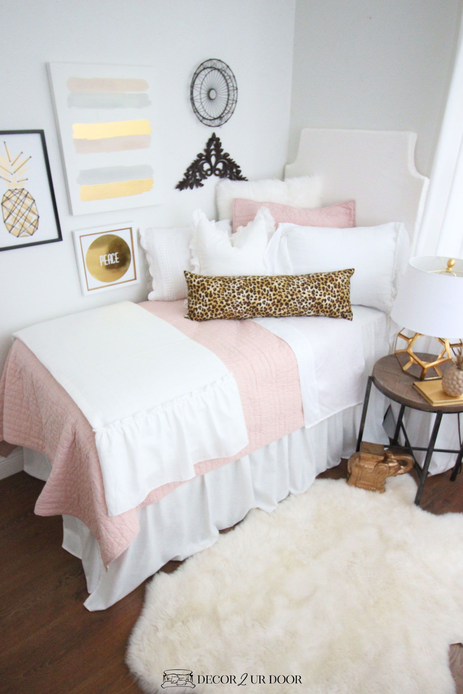 Blush Pink Dorm Room Ideas and Inspiration  Dorm bedding sets