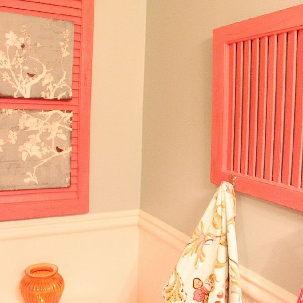 Re Purposing an Old Shutter With Home Made Chalk Paint | Chalk paint ...