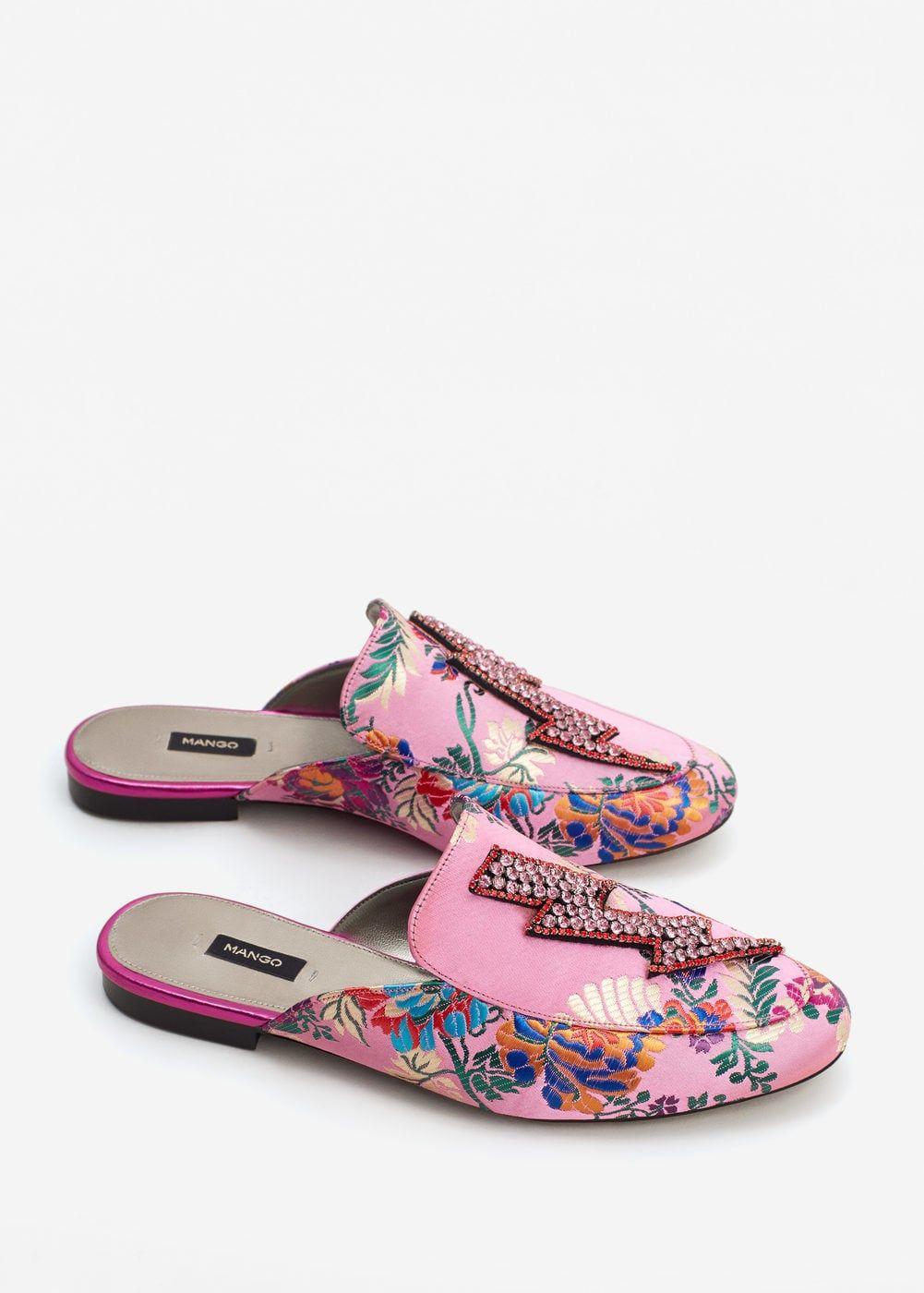 b194f9f07e Mocassim sem calcanhar cristais - Sapatos de Mulher