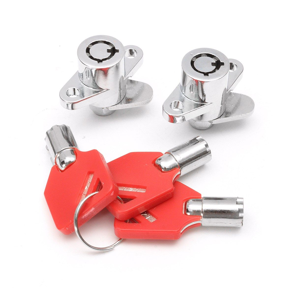 1 Set Red 3 Keys Hard Motorcycle Saddlebag Locks For