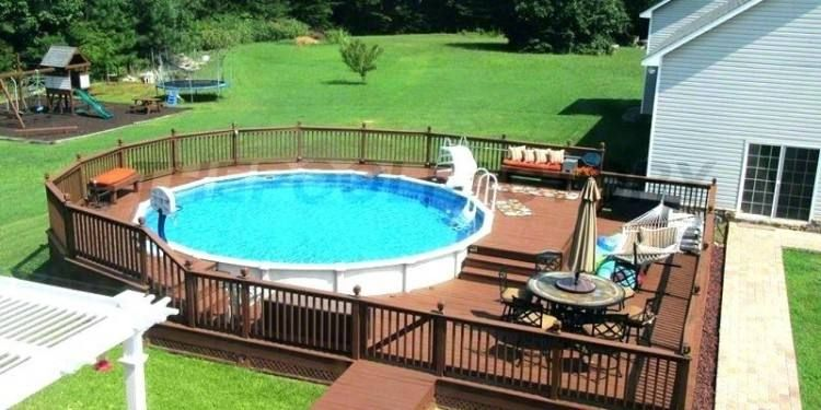 Pictures Of Small Deck Designs For Above Ground Pools Above