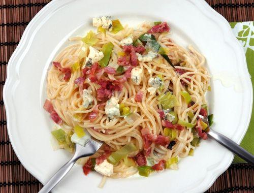 pasta med blåmögelost