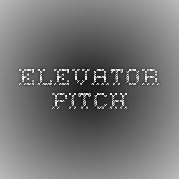 Pitch, Elevation, Creative Writing