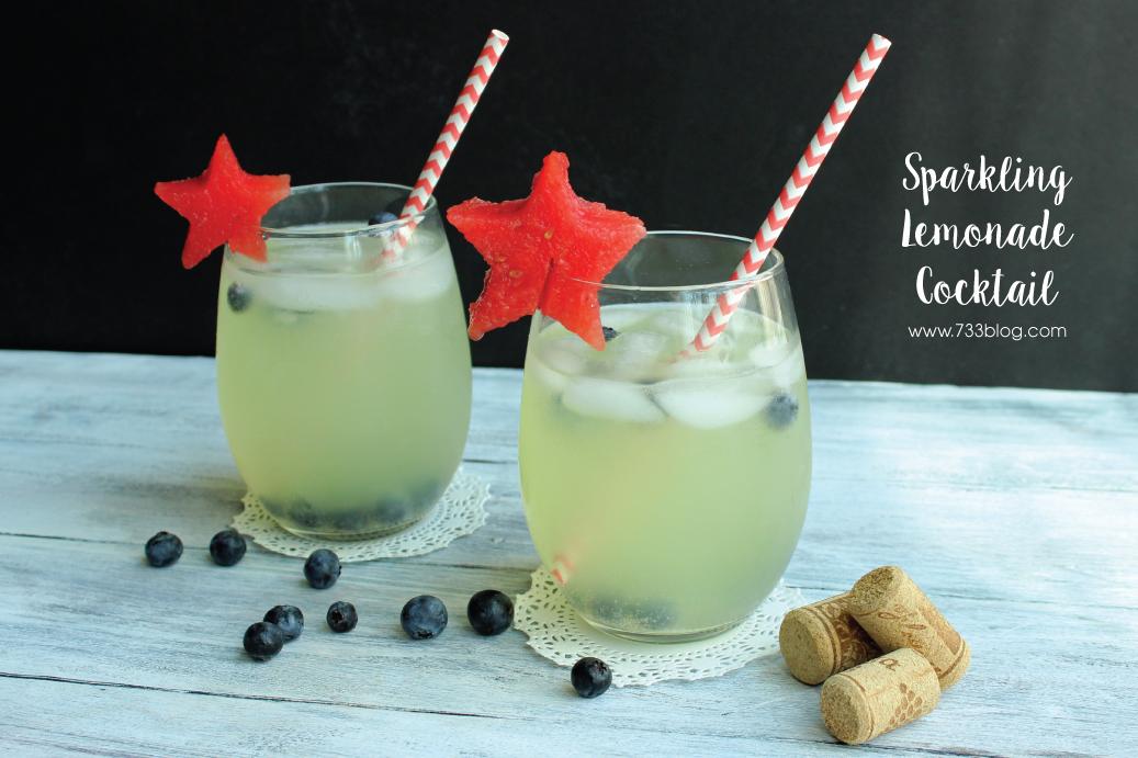 Patriotic Sparkling Lemonade Cocktail - Inspiration Made Simple