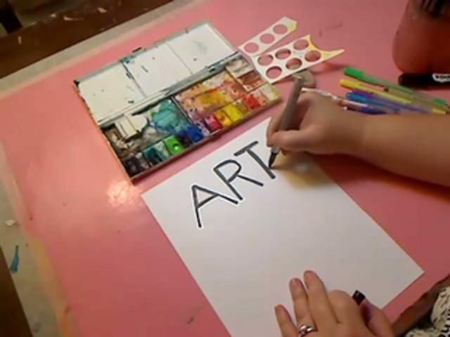 """Lettering for Your Art Journal by Julie Balzer. This is a video tutorial that covers eleven different styles of hand lettering for beginners.  It's the final tutorial in what has been a whirlwind: the very first ever """"Art Journaling Week"""" on my blog."""