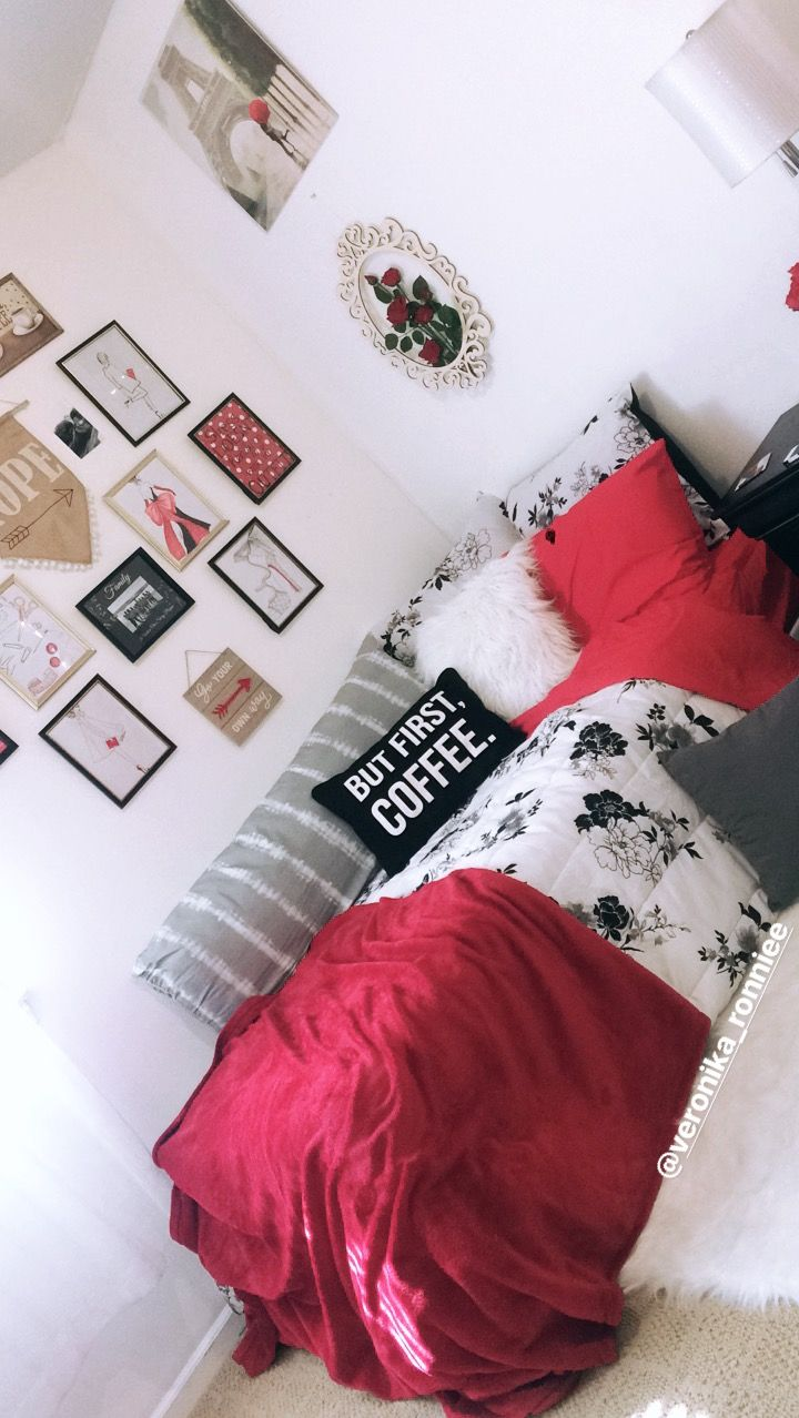 Red bedroom colorsred bed fashion lover twin