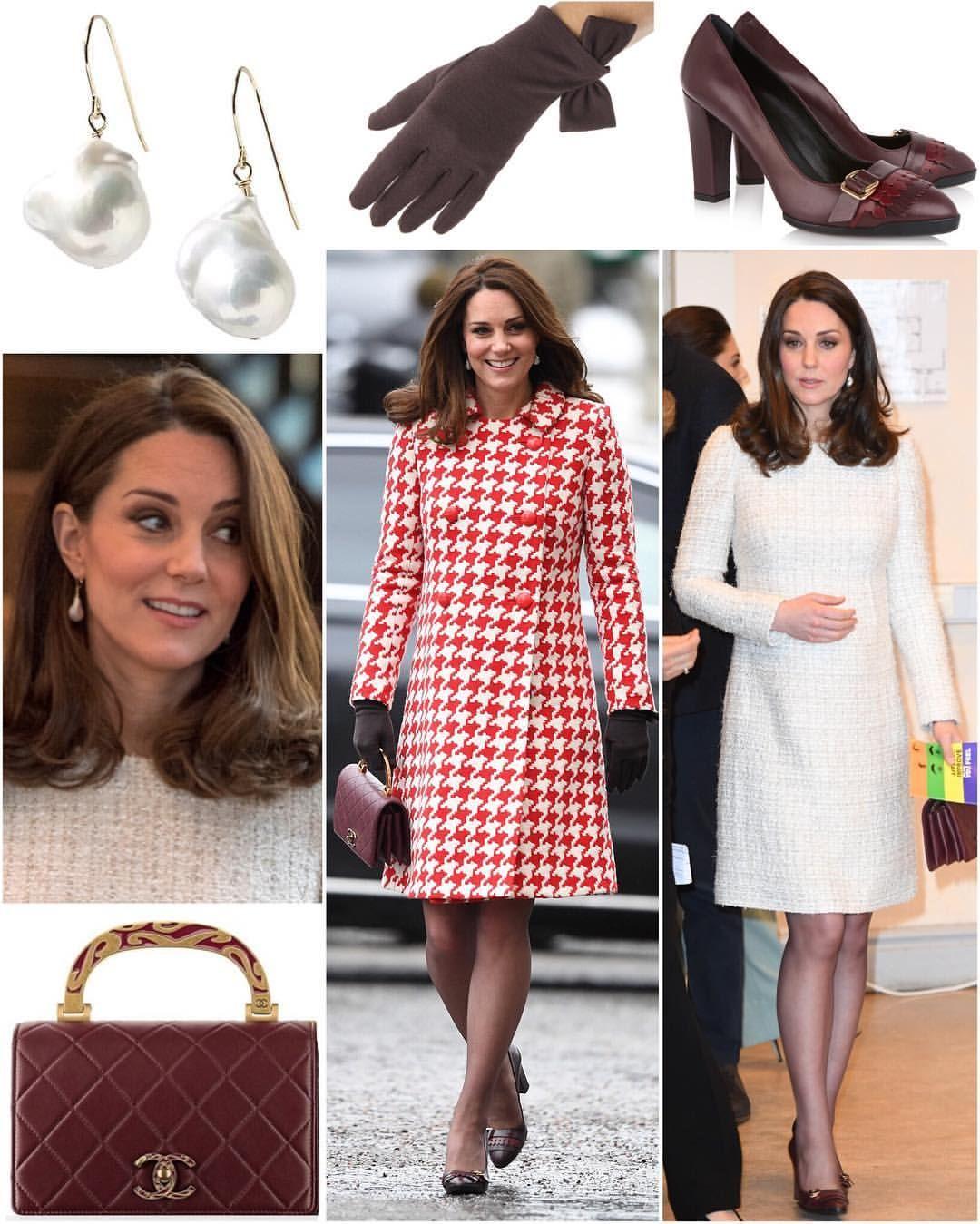 Catherine Duchess of Cambridge, in Catherine Walker coat, Alexander ...