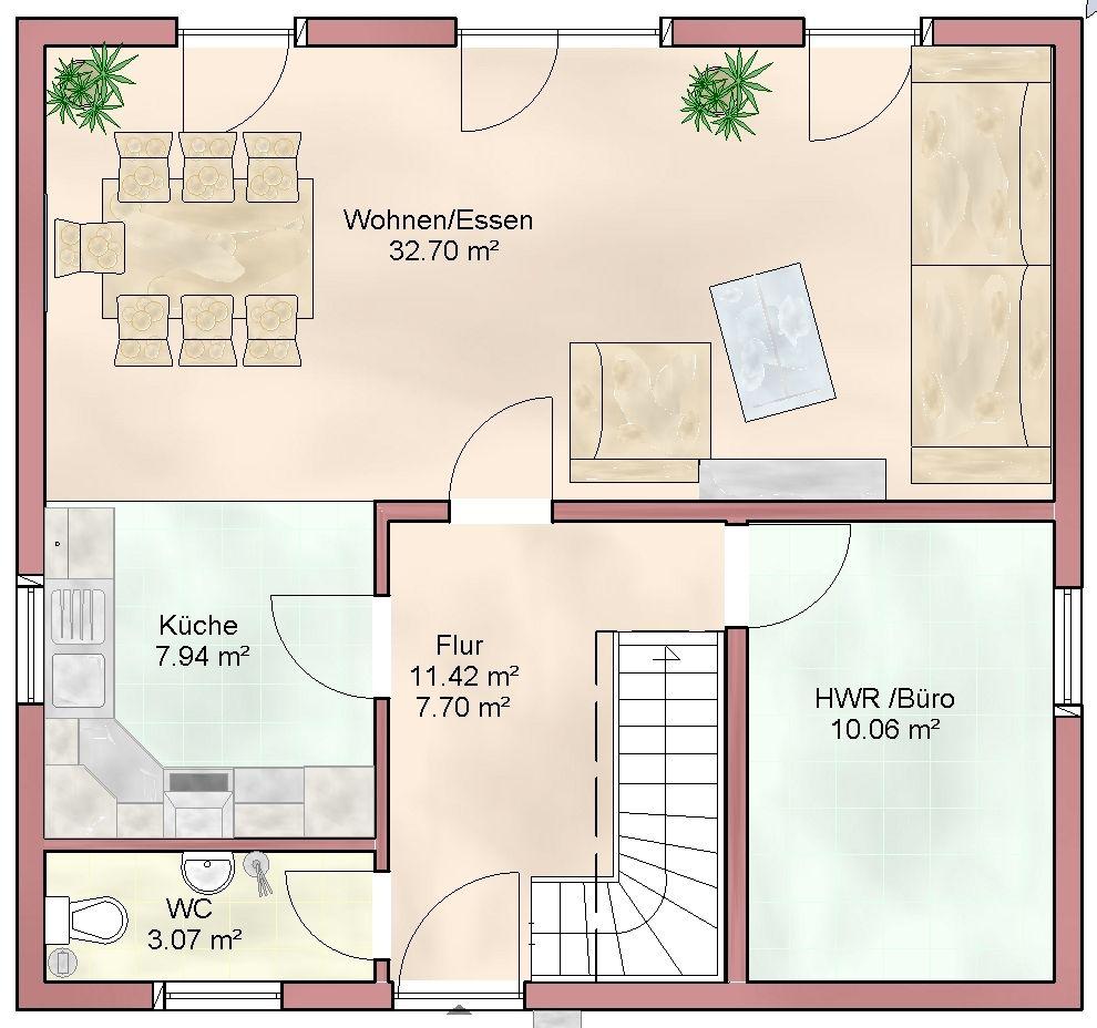 Hauspläne grundrisse  EFH+113+Grundriss+EG.jpg (990×928) | Grundrisse | Pinterest