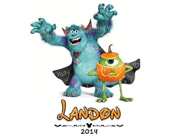 Disney Halloween Monsters Inc Printable Iron On Transfer or Use as Clip Art for Disney Scrapbooking by TheWallabyWay, Perfect for Mickey's Not So Scary Halloween Party