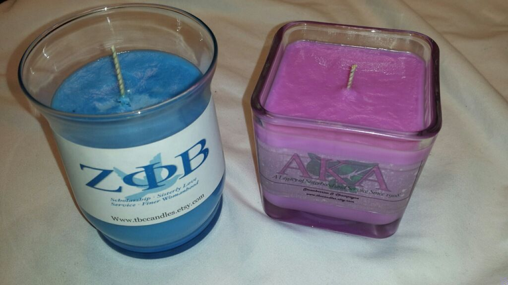 Scented Sorority Candles! 15oz jars only $16.00! Email me at tycarter01@gmail.com to order your!