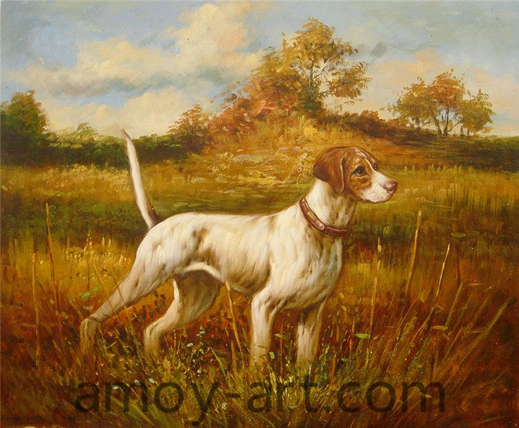 AA04DG001 (8)-Dog-China Oil Painting Wholesale | Portrait Oil Painting| Museum Quality Oil Painting Reproductions