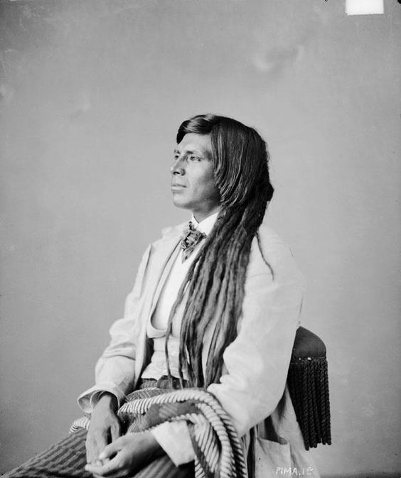 Louis Morajo (aka Luig Morague, aka Luis Morago) - Pima - 1872  {Note: Louis Morajo was a Papago man who lived with the Pima and married a Pima woman.}: