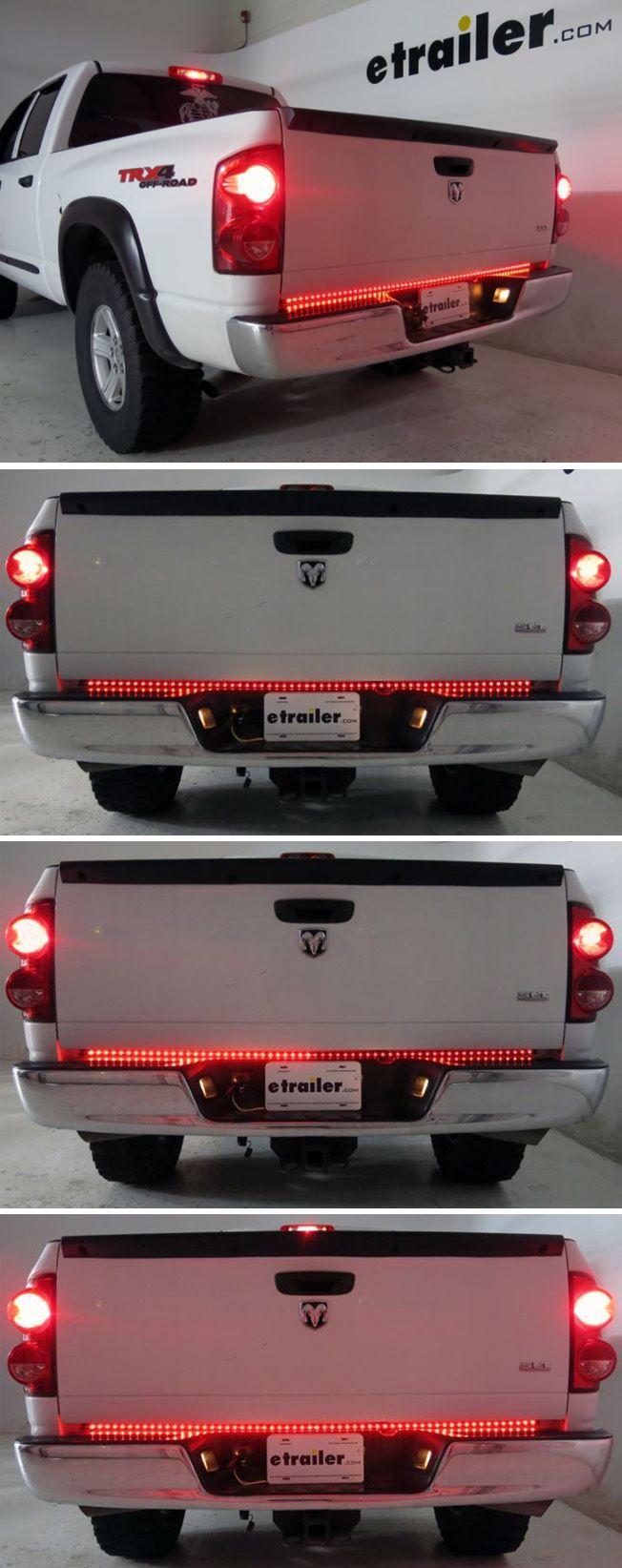 Rampage Superbrite Led Tailgate Light Bar Stop Tail Turn 4 Pole Flat 60 Long Rampage Vehicl Truck Accessories Cool Trucks Camo Truck Accessories